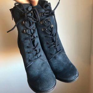 Geox Blue Midnight heeled Boots Size 7